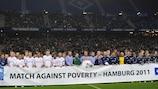 Nine-goal show in Hamburg raises funds and spirits