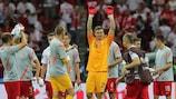 Przemysław Tytoń salutes the crowd after the opening draw