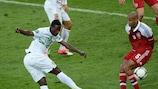 Silvestre Varela scores the winner against Denmark three minutes from time