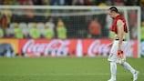 Franck Ribéry abandona o relvado depois da derrota frente à Espanha