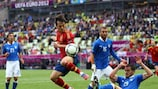 Spain and Italy drew 1-1 in Gdansk on 10 June