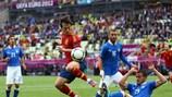España e Italia empataron a uno en Gdansk