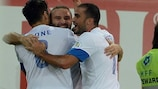 Dimitris Salpingidis ha aperto le marcature per la Grecia
