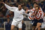Zinédine Zidane in action for Real Madrid against Atlético in 2002