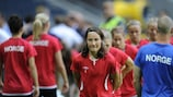 Ingvild Stensland training ahead of the UEFA Women's EURO 2013 final