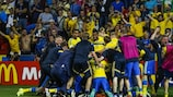 Sweden celebrate at full time