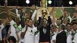 Wolfsburg celebrate their 2015 German Cup win
