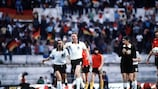 Nicolae Rainea oversees the EURO '80 final as West Germany's Horst Hrubesch celebrates in Rome