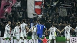 Juventus after their victory against Dortmund
