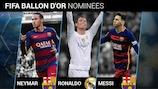 Neymar, Cristiano Ronaldo and Lionel Messi are the contenders