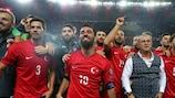 Selçuk İnan traf für die Türkei gegen Island