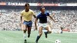 Gigi Riva durante la finale dei Mondiali del 1970