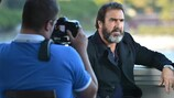 Former France and Manchester United playmaker Eric Cantona