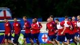 England in training on Wednesday