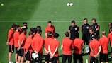 Diego Simeone briefe ses troupes à l'entraînement lundi