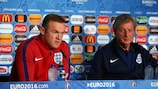 England captain Wayne Rooney and manager Roy Hodgson at Friday's press conference