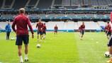 La seduta di allenamento della Russia allo Stade Pierre Mauroy