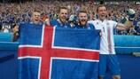 L'Islanda festeggia la qualificazione dopo la vittoria contro l'Austria