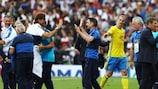 Zlatan Ibrahimović dopo la sconfitta contro l'Italia