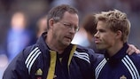 Lars Lagerbäck (left) and Niclas Alexandersson in their Sweden days