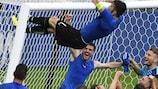 Gianluigi Buffon with his trademark celebration