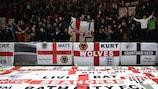 England fans' flagging in France