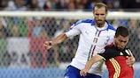 Giorgio Chiellini, averti contre la Belgique, fait partie des joueurs menacés