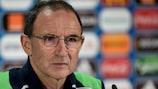 Martin O'Neill antes do jogo decisivo para a Irlanda