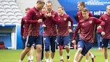 Russia train at the Stade Pierre Mauroy