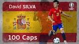 Spain's David Silva has won his 100th cap