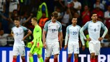 Erid Dier (No17) and team-mates trudge off the field despondent in Marseille