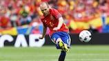 Andrés Iniesta llevó las riendas ante la República Checa