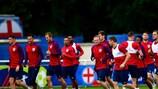 O treino de Inglaterra na quarta-feira