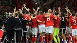 Wales celebrate their remarkable triumph