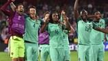 Il Portogallo festeggia dopo la vittoria agli ottavi contro la Croazia