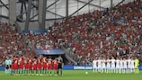 Moment of applause at Poland-Portugal