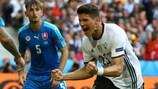 Mario Gomez já marcou dois golos pela Alemanha neste EURO