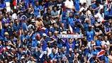 Frankreichs Fans freuen sich auf das Viertelfinale