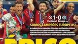 La prima pagina del giornale portoghese Record