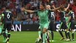 Cristiano Ronaldo celebrates his goal