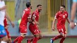 Kyrian Nwoko celebra su gol