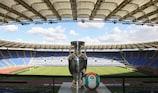 Der Henri-Delaunay-Pokal im Olimpico in Rom