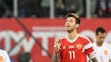 Fedor Smolov marcou dois golos pela Rússia frente à Espanha