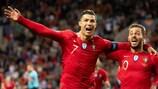 Cristiano Ronaldo e Bernardo Silva both estiveram em plano de destaque na fase final
