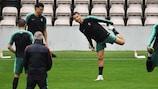 Cristiano Ronaldo durante o treino de Portugal no Estádio do Bessa