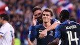 Antoine Griezmann struck twice against Germany