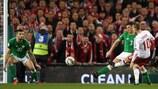 Christian Eriksen scores Denmark's third in Dublin