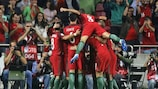 Portugal celebrate going 2-0 up