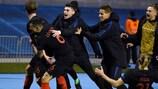 Croatia celebrate their dramatic winner