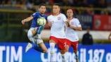 Les buteurs Jorginho pour l'Italie et Piotr Zieliński pour la Pologne